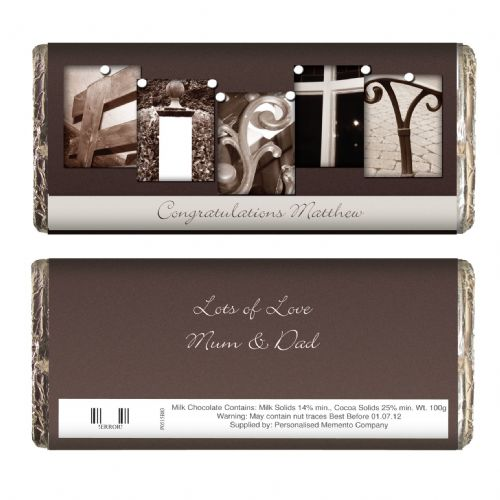 Personalised Affection Art Fifty Chocolate Bar